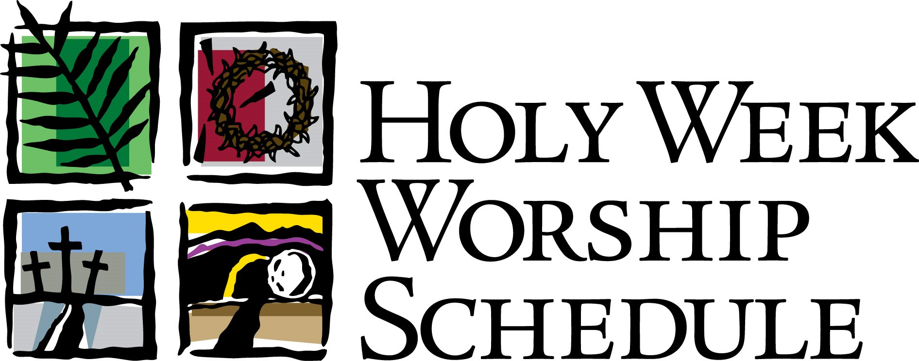 Holy Week Schedule for 2016