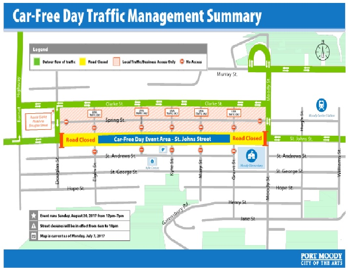 St. Johns Street Car-Free on August 20