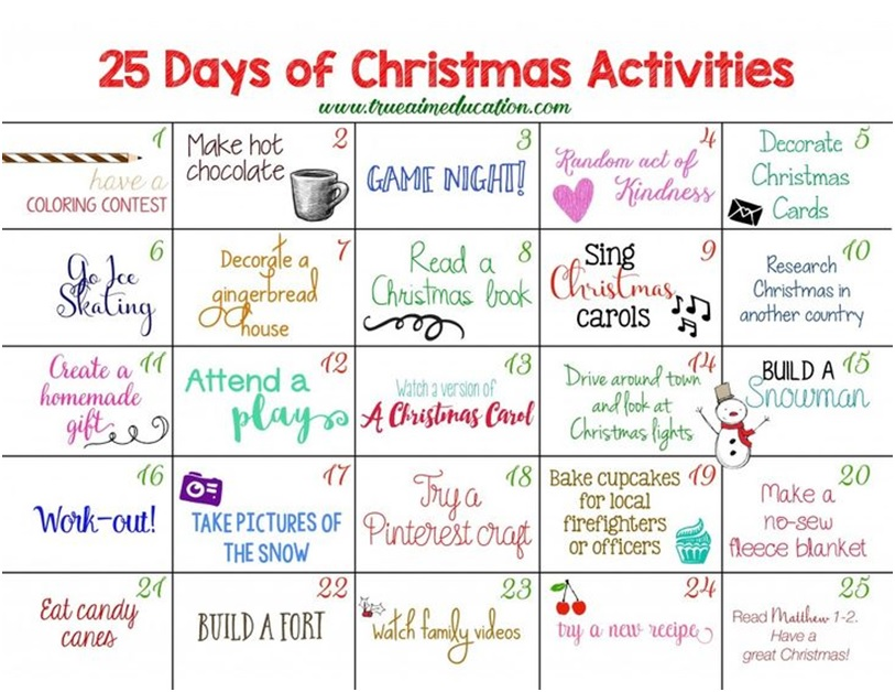 Advent Activities for 2017