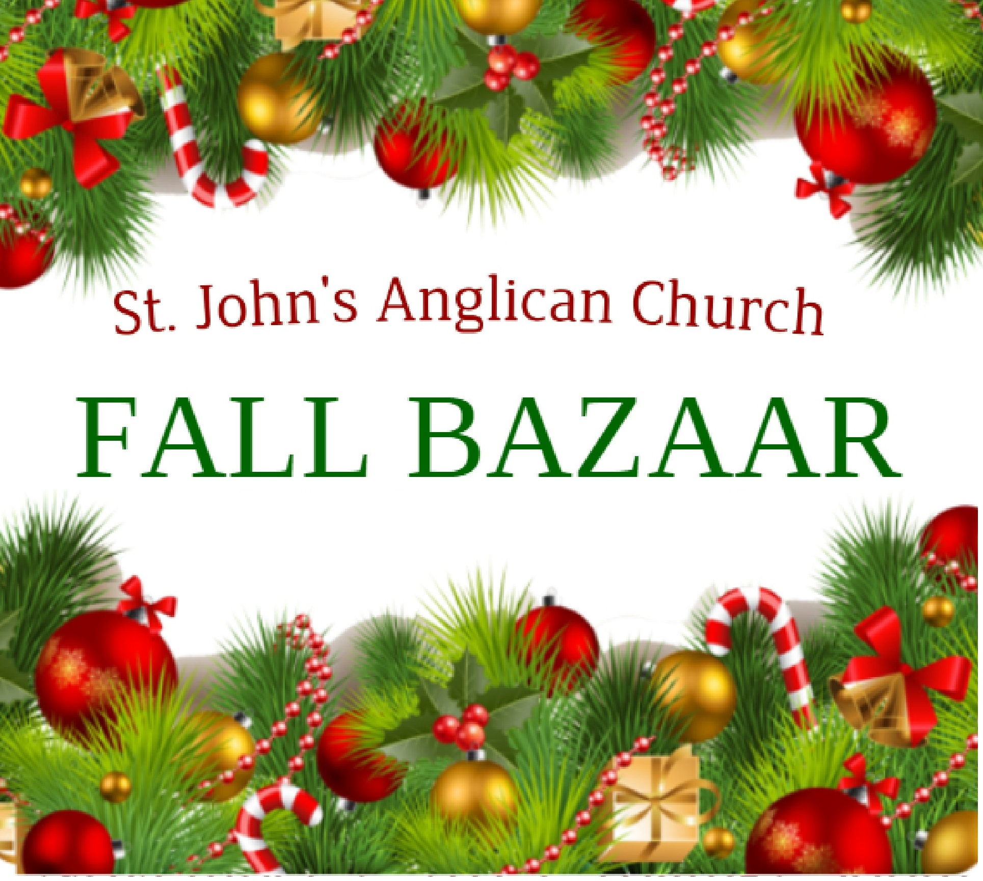 Fall (Christmas) Bazaar