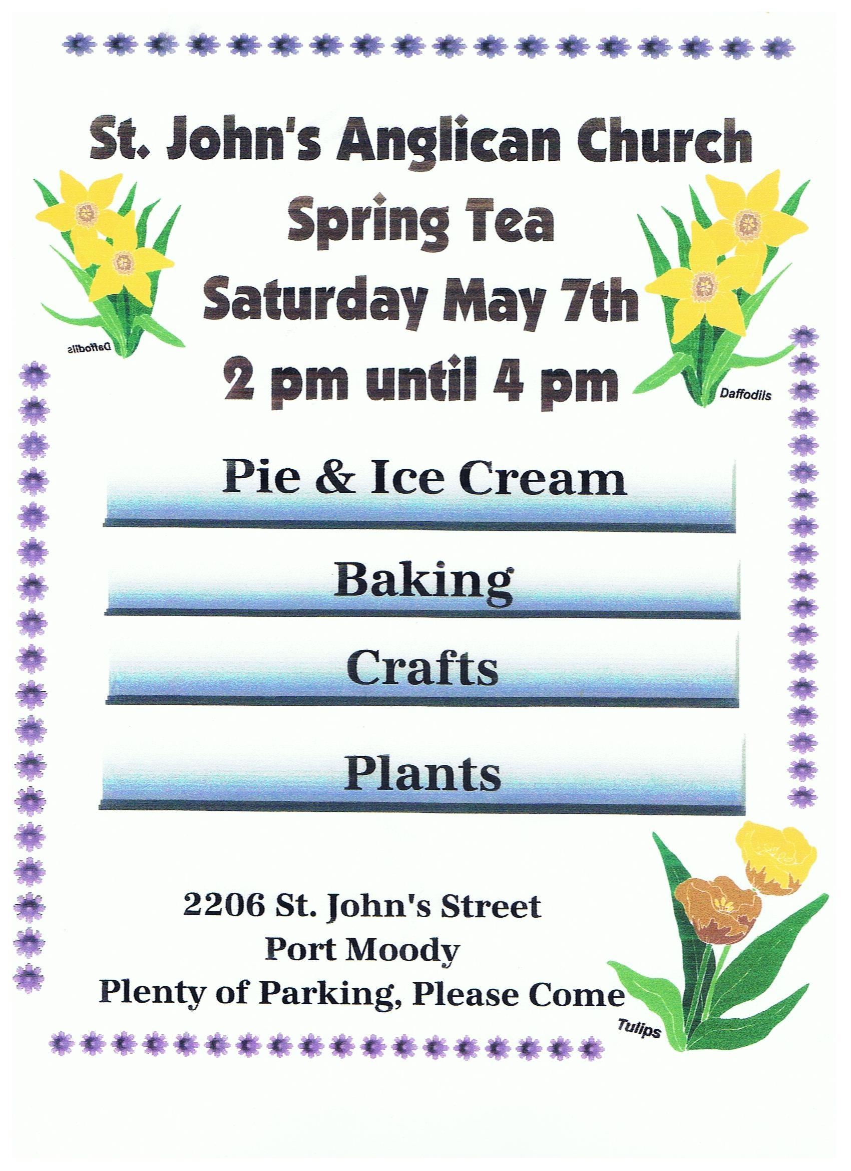 Spring Tea - May 7th
