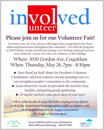 Involved - Volunteer Fair , May 26th, 2016