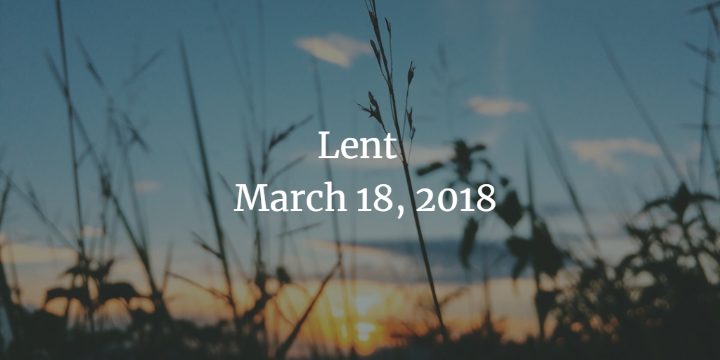 Homily for Lent 5, March 18, 2018 - the Rev. Stephanie Shepard